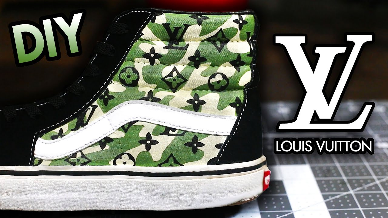 HOW TO CAMO LOUIS VUITTON YOUR SHOES SUPER EASY METHOD