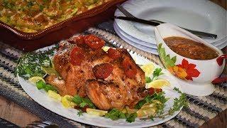Roasted Chicken   Yukon Gold Potatoes   Курица Запеченная в Духовке   Картошка с Сыром