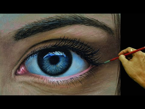 How to Paint a Realistic Eye in Acrylic by JM Lisondra