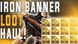 Destiny IRON BANNER LOOT! (Opening 12 Iron Banner Bounties & Weekly Crucible) God Roll Clever Dragon