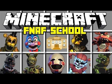 Minecraft LIMA MALAM DI FREDDY'S SCHOOL MOD! | MENGAJARKAN ANIMATRONIK FNAF! | Modded Mini-Game