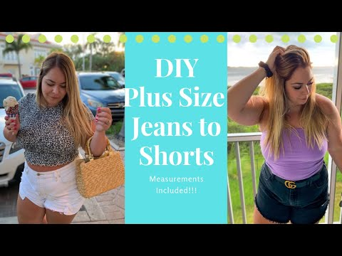 DIY Plus Size Jeans To Shorts ~ MEASUREMENTS INCLUDED!!!