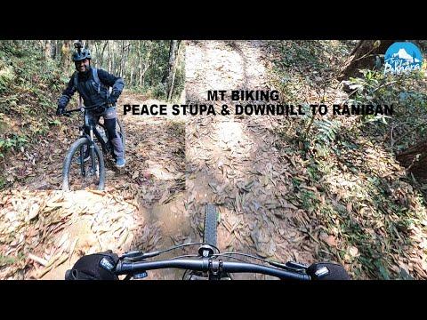 Mt Biking Peace stupa & down hill to Raniban