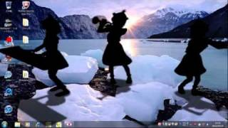 はい、スクリーンセーバーです。 背景と合わないのは気にしない・・・・・。 キャプチャーソフトはアマレココを使用しました。