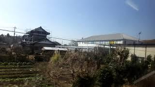 JR東日本209系MT68 側面展望 茂原→鎌取(外房線) ケヨ34編成左※110km/h運転