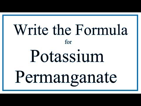 How To Write The Formula For Potassium Permanganate