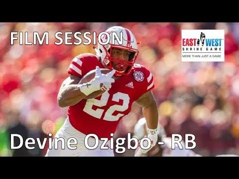 reputable site ab9d8 041bc Devine Ozigbo (Nebraska) FILM SESSION (RB) || 2019 NFL Draft