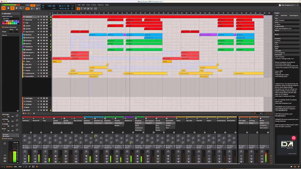 Bitwig Studio EDM Template YouTube - Edm template