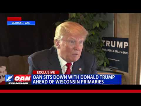 Donald Trump Sits Down with One America News in Wisconsin for an Exclusive Interview