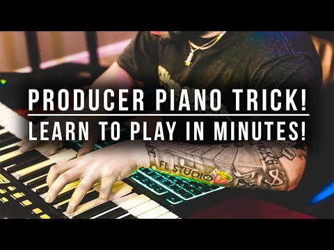 PRODUCER PIANO/CHORD TRICK! LEARN HOW TO PLAY IN MINUTES! CHORD PROGRESSIONS & MORE!