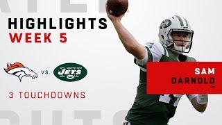 Sam Darnold Highlights vs. Broncos