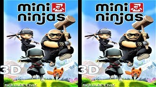 3D VR TV video Mini Ninjas Side by Side SBS google cardboard