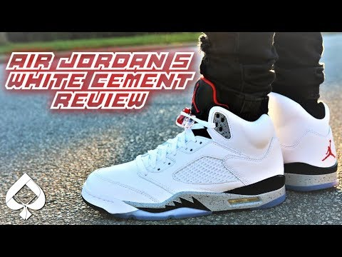 more photos 0d923 71814 BEST AIR JORDAN THIS SUMMER? Air Jordan 5 WHITE CEMENT REVIEW