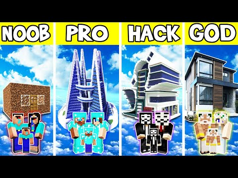 minecraft:-family-modern-flying-house-build-challenge---noob-vs-pro-vs-hacker-vs-god-in-minecraft