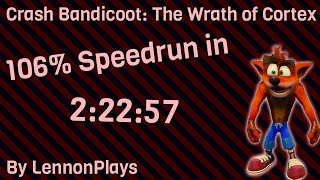(Obsolete WR) Crash Bandicoot: The Wrath of Cortex 106% in 2:22:57 (2:36:43 w/Loads)