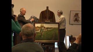 Opening expositie Rien Poortvliet in boerderijmuseum