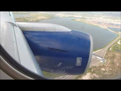 British Airways 777 London Gatwick takeoff and Kingston, Jamaica Landing