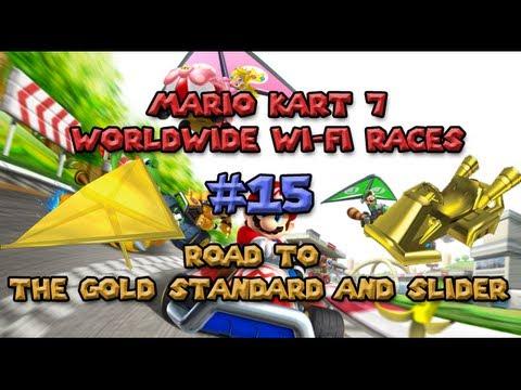 Mario Kart 7 Worldwide Wi-fi Races 15 - Unlocking the Gold Standard and Glider