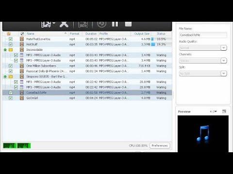 Как сделать из видео аудио в формате mp3