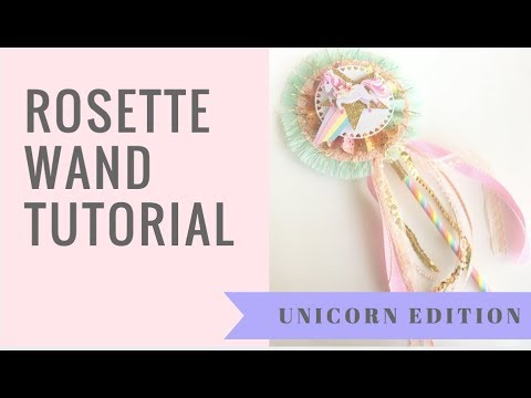 Unicorn Paper Rossette Wand Tutorial - DIY happy mail ideas