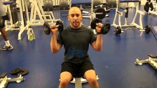 Seated Dumbbell Clean and Press