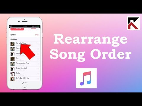 How To Rearrange Order Of Songs In Up Next Queue Apple Music