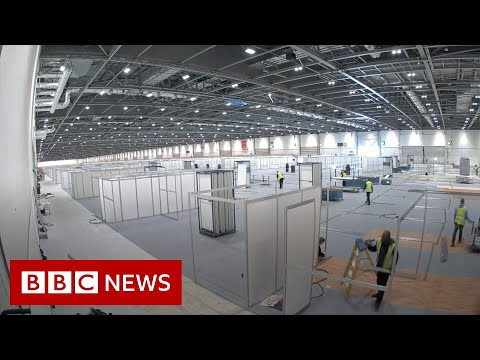 Timelapse of new London coronavirus hospital - BBC News