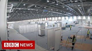 Timelapse of new London coronavirus hospital - BBC News