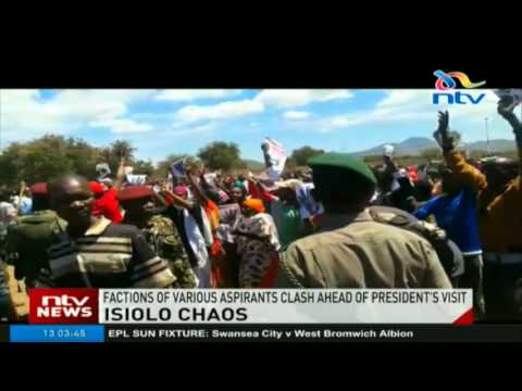 Factions of various aspirants clash ahead of president's Isiolo visit