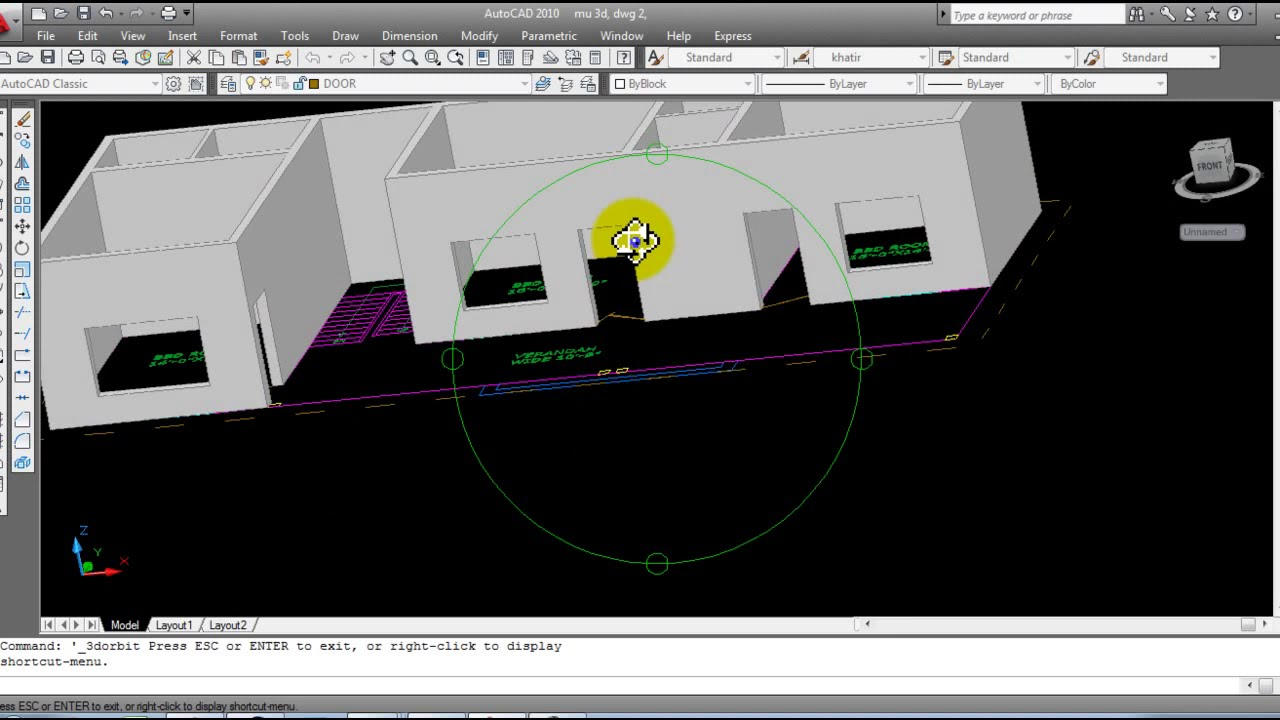 AutoCAD 3D House Modeling Tutorial Beginner (Basic) Urdu/Hindi