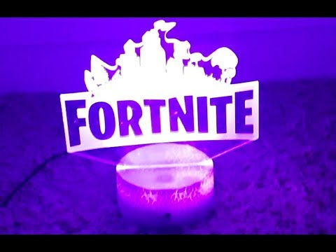 Unboxing FORTNITE Lamp!! (SO COLORFUL)