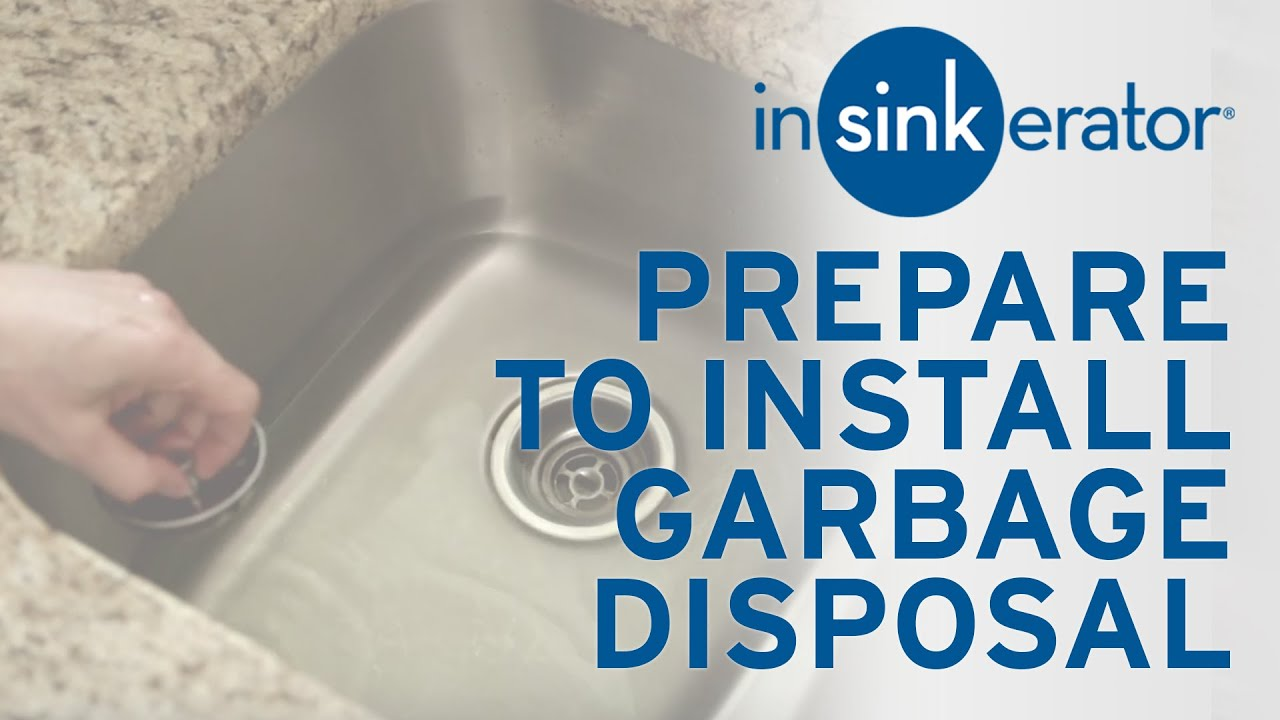 How To: Prepare for First Garbage Disposal Install - YouTube