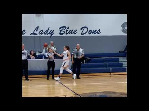 "Weirton Madonna High School Junior Center 6'1"" Alaina Moore girls basketball OVAC"
