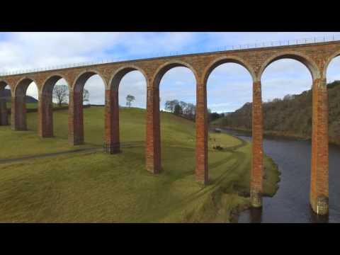 Leaderfoot Viaduct & River Tweed, Scottish Borders