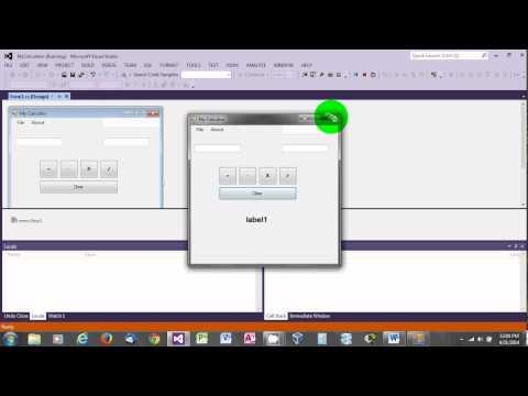 Create Simple Calculator in C# Visual Studio 2012