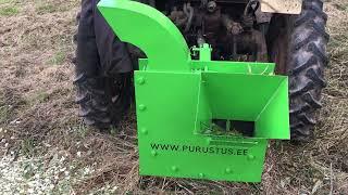 Wood chipper for tractor. Oksapurustaja traktorile