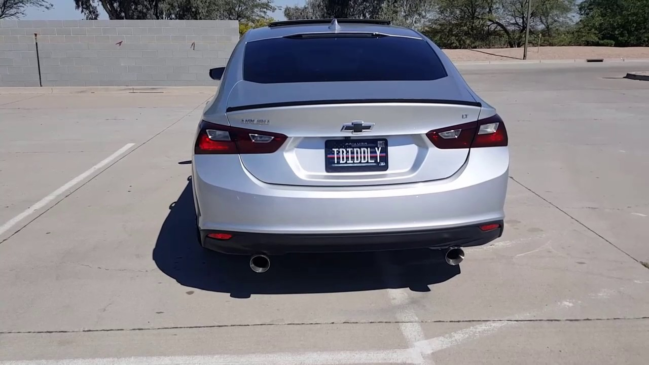 2016 Chevy Malibu Lt With Dual Exhaust Sitting On 22 Inch Rims