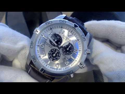 Men's Citizen Eco Drive Perpetual Calendar Chronograph Watch BL5470 06A