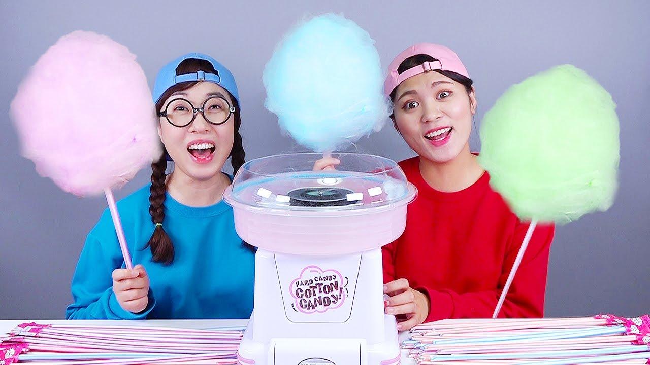 Download Big Giant Food Pringles Cotton Candy Mukbang DONA
