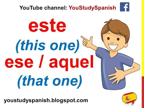 Spanish Lesson 54 - DEMONSTRATIVE PRONOUNS in Spanish Este Esta Ese Aquel Esto Eso Aquello This That