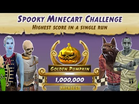 Temple Run 2 World Record 12,866,268 Scores! Temple Run 2 Montague's Marathon Spooky Minecart Event