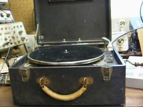 American Foundation for the Blind wind-up talking book record player