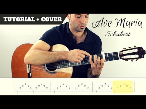 How to play AVE MARIA I SCHUBERT I  EASY Tutorial CHORDS, TABS and, lyrics