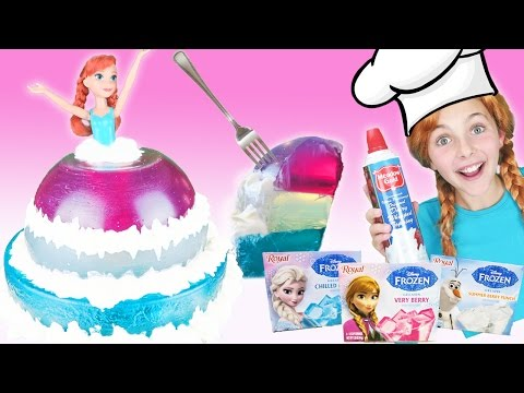 Thumbnail: Jello Frozen Anna Doll Dress Dessert | Disney Princess Gummy Food Elsa and Olaf Kids Cooking Recipes