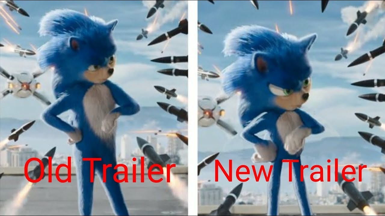 Old Sonic The Hedgehog Trailer Vs The New Sonic The Hedgehog Trailer Youtube
