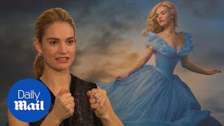 Lily James shoots down Cinderella photoshop rumours - Daily Mail