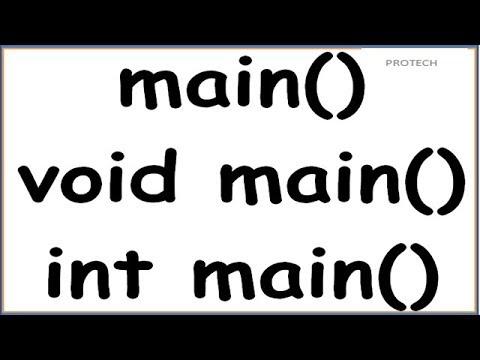 MAIN  FUNCTION  IN C (HINDI) | void main() vs int main()