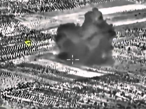Russia's Defense Ministry-Airstrike Destroyed ISIS base in Syria