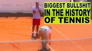 The biggest Bullshit in the history of Tennis ★ Mohammed Sawfat against Referee in Tennis-Bundesliga