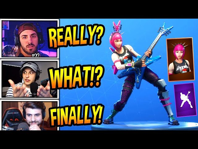 STREAMERS REACT TO *RARE* POWER CHORD SKIN COMING BACK! + ROCK OUT EMOTE! Fortnite FUNNY Moments